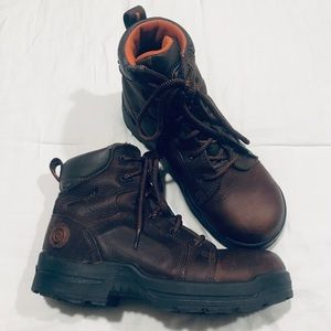 Rockport works genuine leather work boots size 7